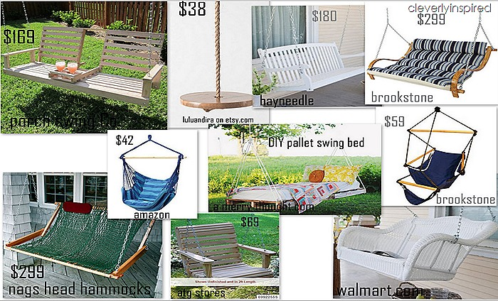 outdoor porch swings @cleverlyinspired
