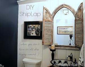 """Shiplap"" in the Powder Room"