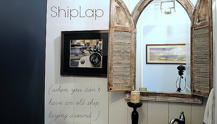 """Shiplap"" in the Powder Room"