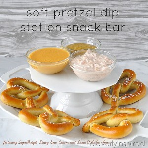 Soft Pretzel dip snack bar