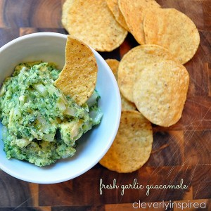 Fresh Garlic Guacamole
