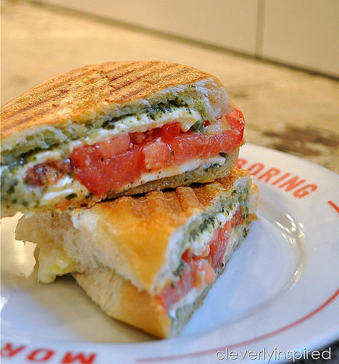 tomato mozzerella panini @cleverlyinspired (3)