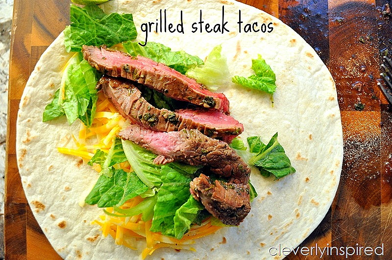 Easy Grilled Steak Tacos - Cleverly Inspired