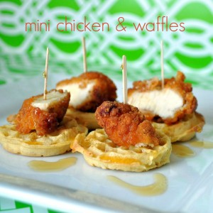 Mini Chicken & Waffles Appetizer
