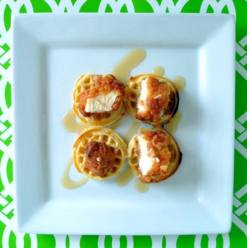 mini chicken & waffles @cleverlyinspired (4)
