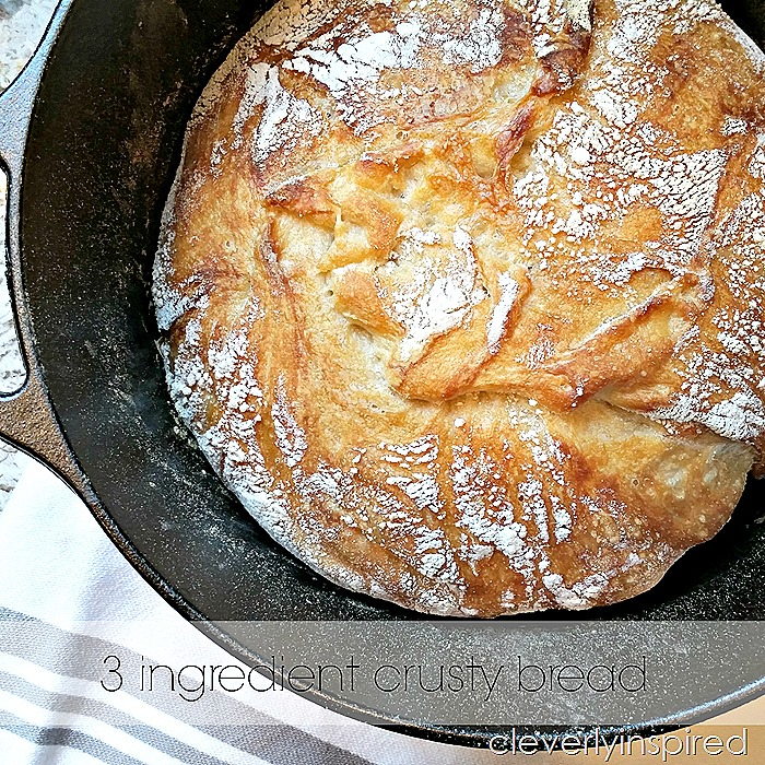 3 ingredient crusty bread recipe @cleverlyinspired (4)