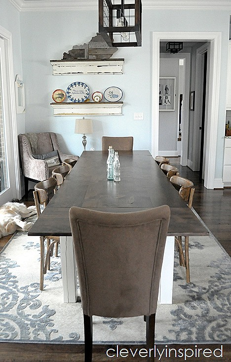 farmhouse dining table with extensions @cleverlyinspired (6)