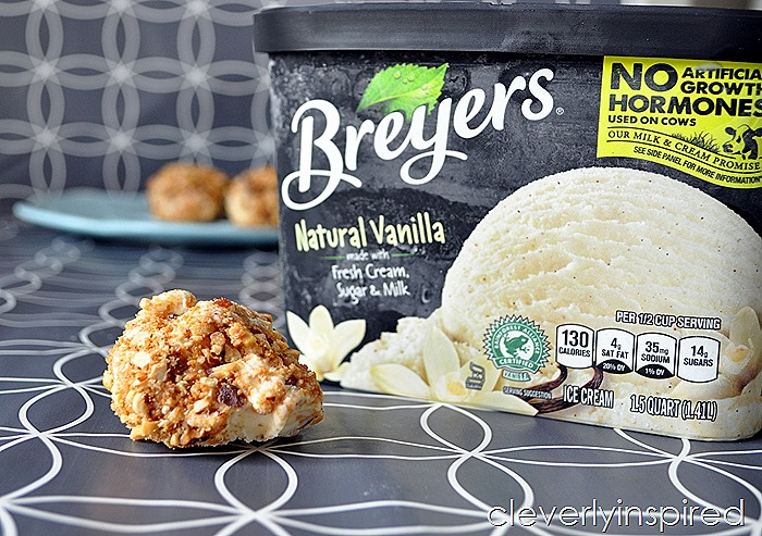 toasted nuts ice cream ball @cleverlyinspired