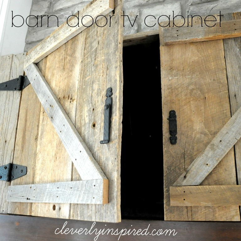 Barn Door Tv Cabinet Above Mantle
