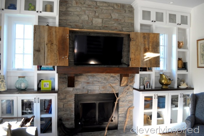 hide a tv above mantel @cleverlyinspired (11)