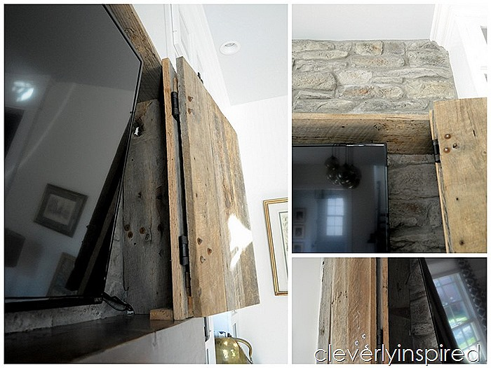 hide a tv above mantel @cleverlyinspired (12)