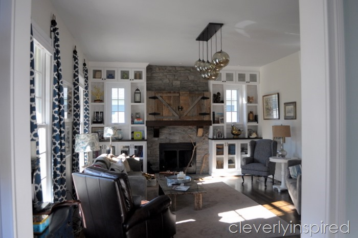 hide a tv above mantel @cleverlyinspired (2)