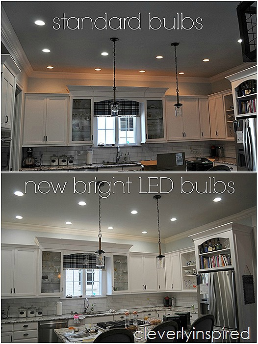 brightest recessed lighting for kitchen @cleverlyinspired (8)