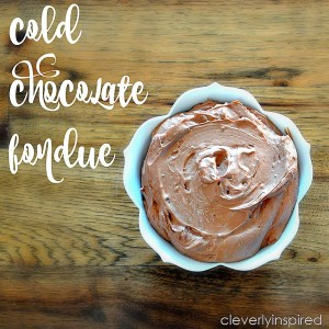 Cold Chocolate Fondue Recipe