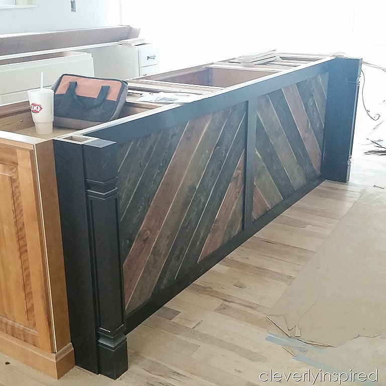 "DIY ""reclaimed Wood"" On Kitchen Island"