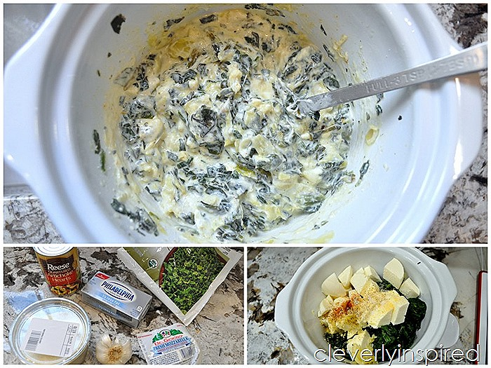 slow cooker spinach artichoke dip @cleverlyinspired (4)