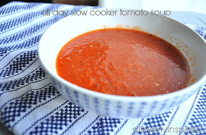slow cooker tomato soup @cleverlyinspired (9)
