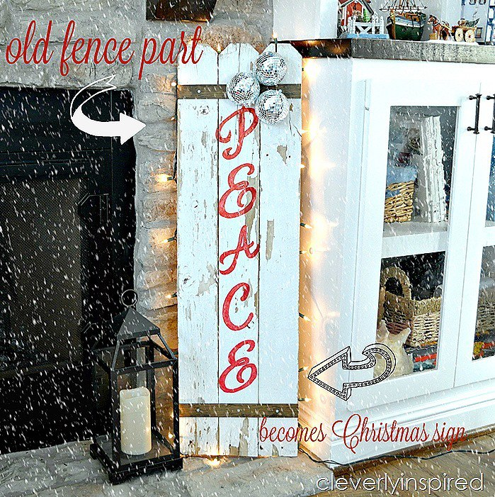 DIY Christmas sign reclaimed fence @cleverlyinspired (2)cv
