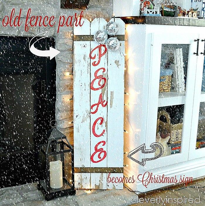 DIY Christmas sign reclaimed fence @cleverlyinspired (2)cv