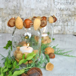 Chestnut Votive Holder: Fall Craft