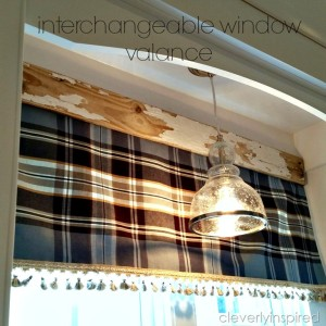 No sew interchangeable window valance