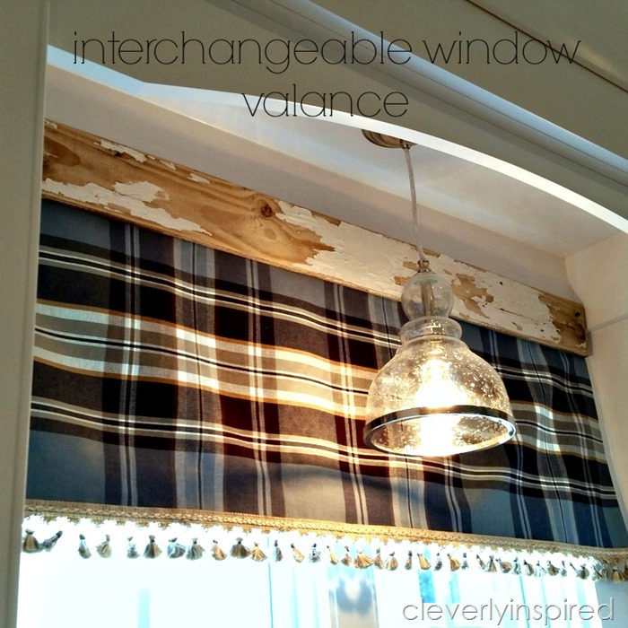 Easy no sew interchangeable valance @cleverlyinspired (4)