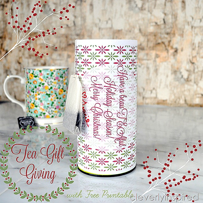 tea gift giving with printable @cleverlyinspired (2)
