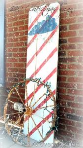 DIY Large Christmas Sign for $10