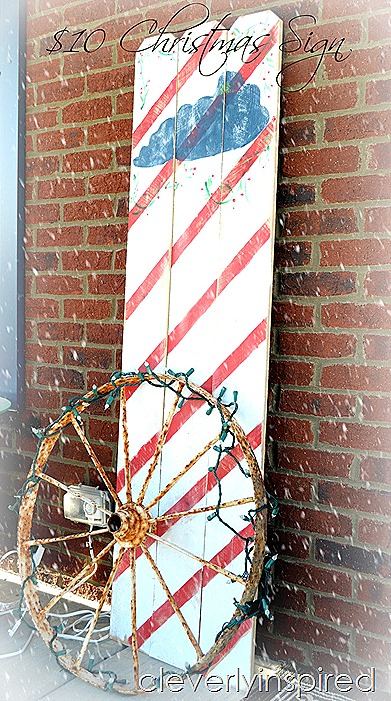 DIY large Christmas sign $10 @cleverlyinspired (10)