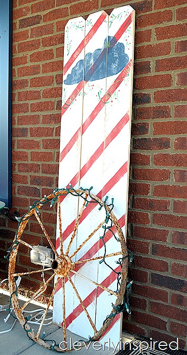 DIY large Christmas sign $10 @cleverlyinspired (9)