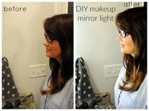 DIY Makeup Light for Bathroom