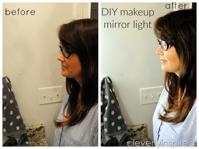 DIY makeup light for bathroom (2)