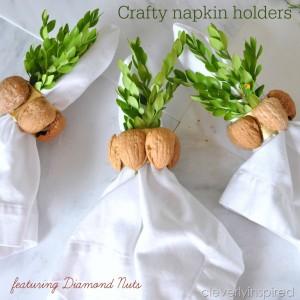 Recycled Nutshell Napkin Holder