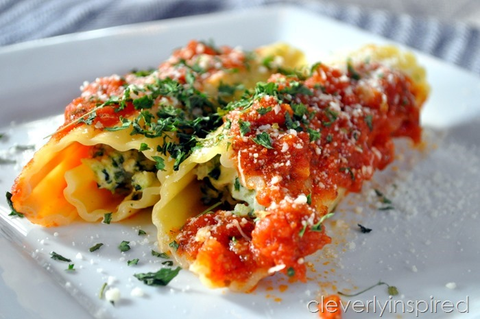 chicken and spinach stuffed manicotti @cleverlyinspired (2)