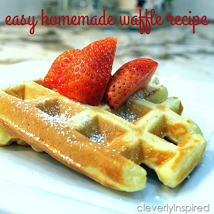 easy homemade waffle recipe @cleverlyinspired (3)