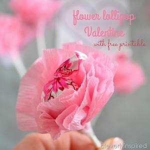 Flower Lollipop Valentine