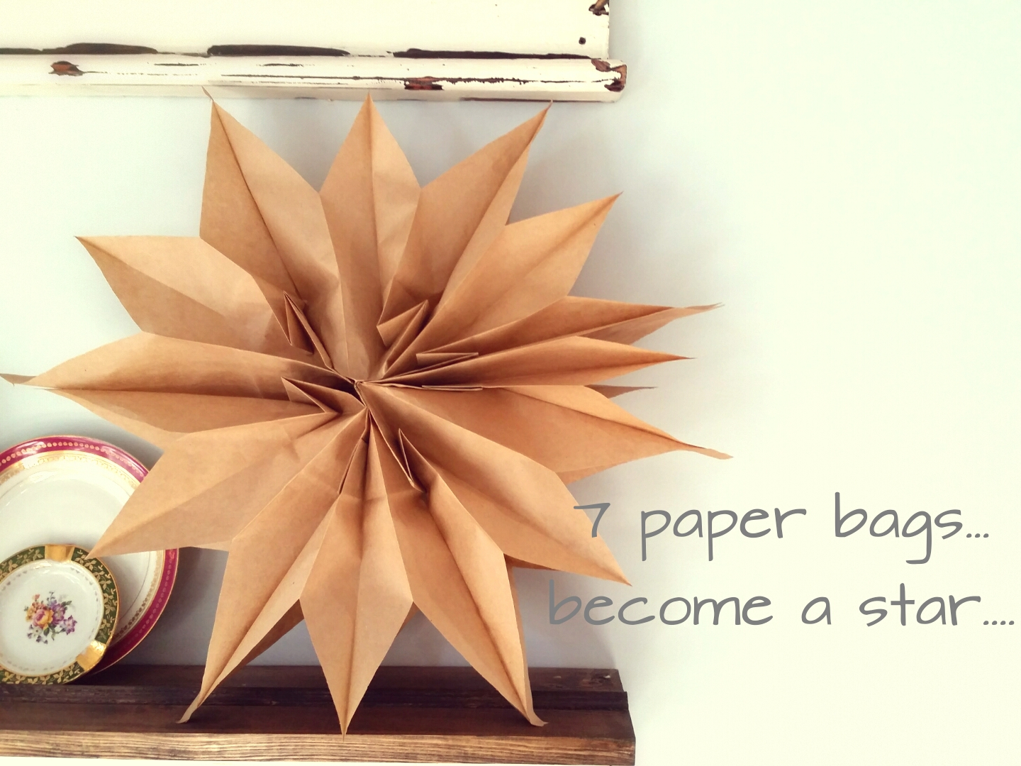 Diy large paper star cleverly inspired for How to make a big paper star
