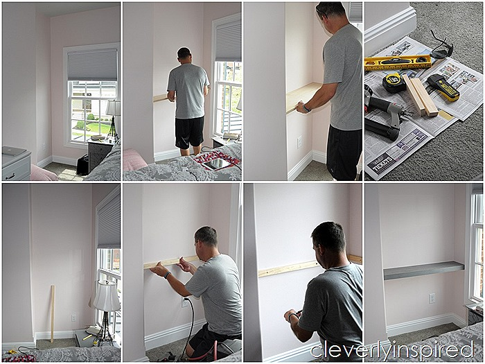 how to build a shelf in a nook space @cleverlyinspired (1)