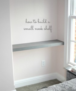 How to build a shelf in a nook space