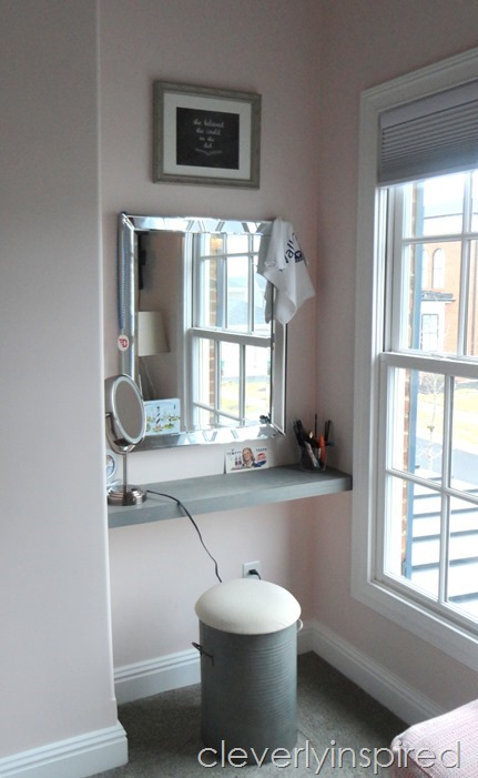 how to build a shelf in a nook space @cleverlyinspired (4)