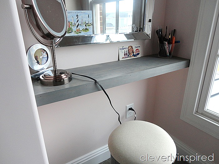 how to build a shelf in a nook space @cleverlyinspired (5)