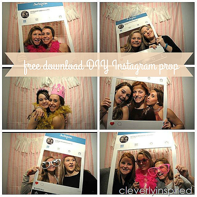 Diy Instagram Photo Prop Free Download Cleverly Inspired