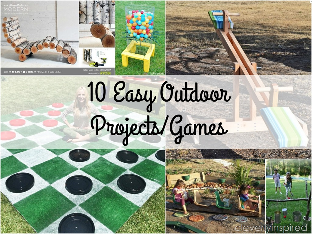 10 Unique Outdoor DIY Projects - Cleverly Inspired