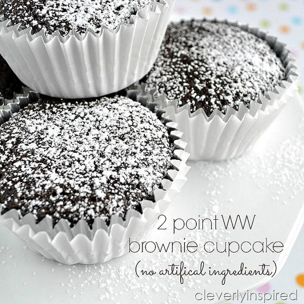 2 point Brownie Cupcake Recipe no artificial ingredients