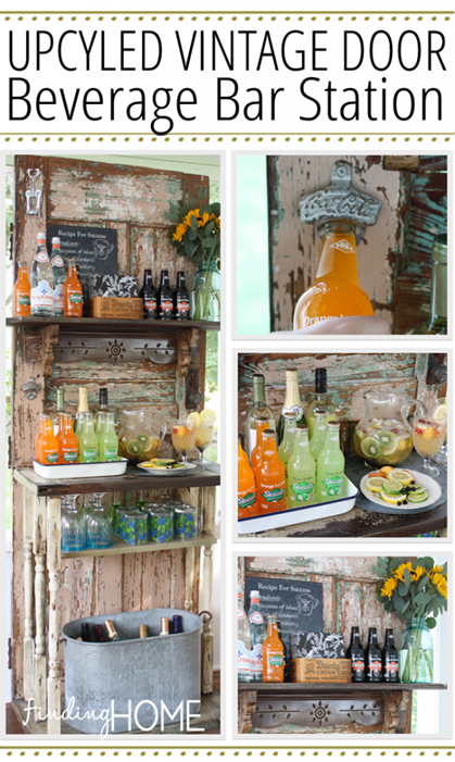 Upcycled-Vintage-Door-Beverage-Bar-Station-612x1024