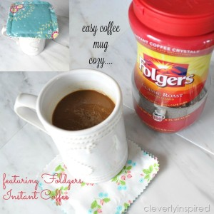 Coffee Cozy Topper featuring Folger's Instant Coffee