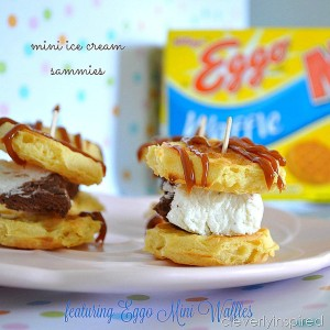 Mini Waffle Ice Cream Sammies