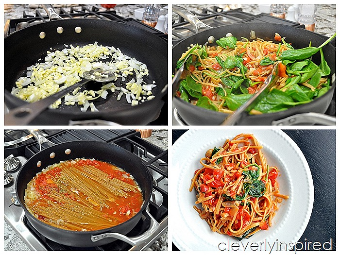 one pot garlic spinach pasta @cleverlyinspired (1)