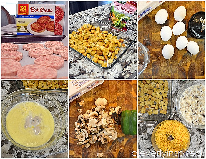 overnight sausage egg breakfast casserole @cleverlyinspired (1)