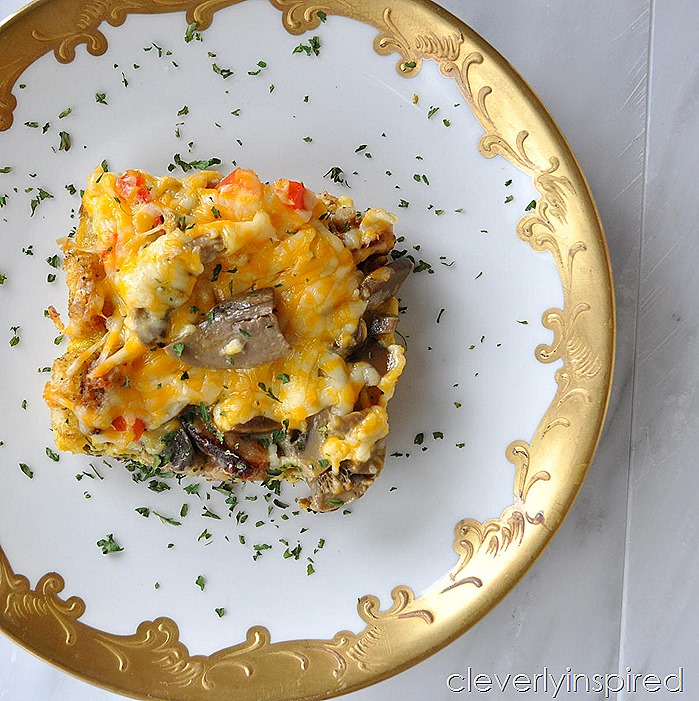 overnight sausage egg breakfast casserole @cleverlyinspired (3)